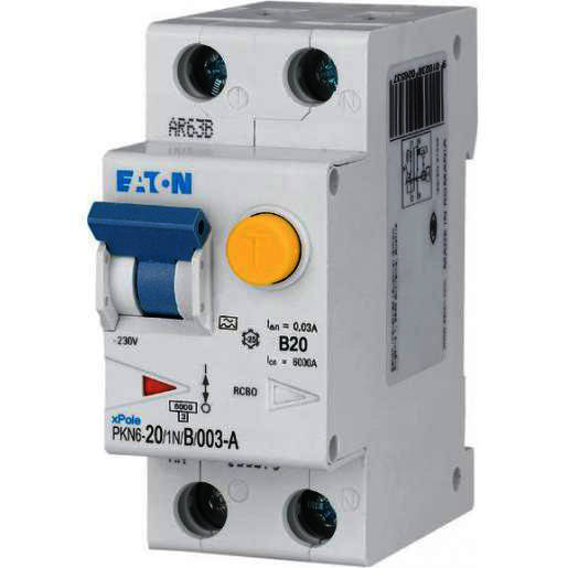 Eaton aardlekautomaat 1-polig+nul 20A B-kar (236667)