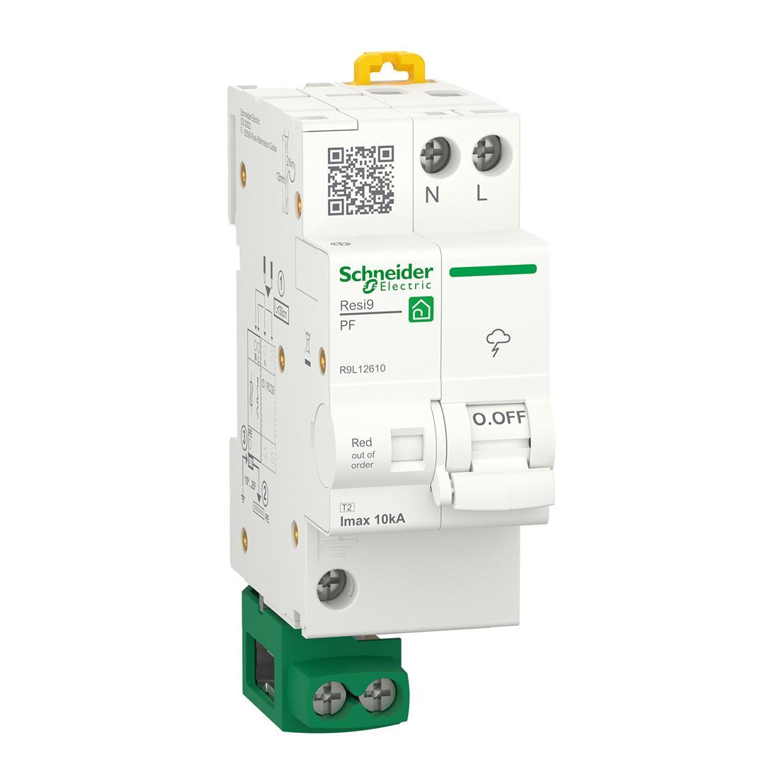Schneider Electric overspanningsbeveiliging 1-polig+nul (R9L12610)