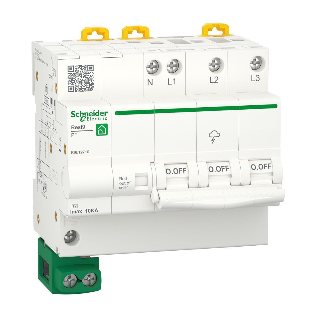 Schneider Electric overspanningsbeveiliging 3-polig+nul (R9L12710)