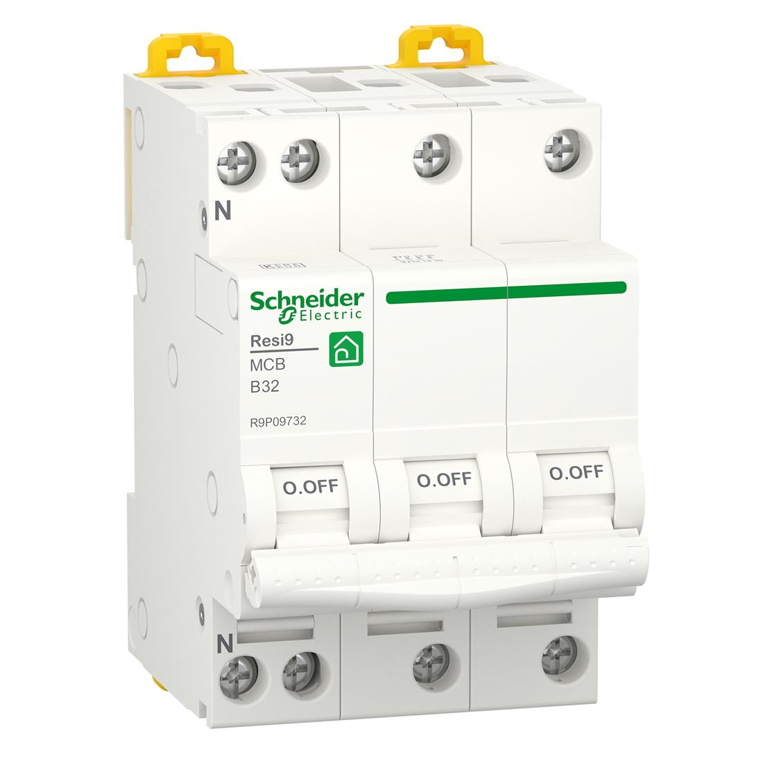 Schneider Electric krachtgroep 3-polig+nul 32A B-kar (R9P09732)