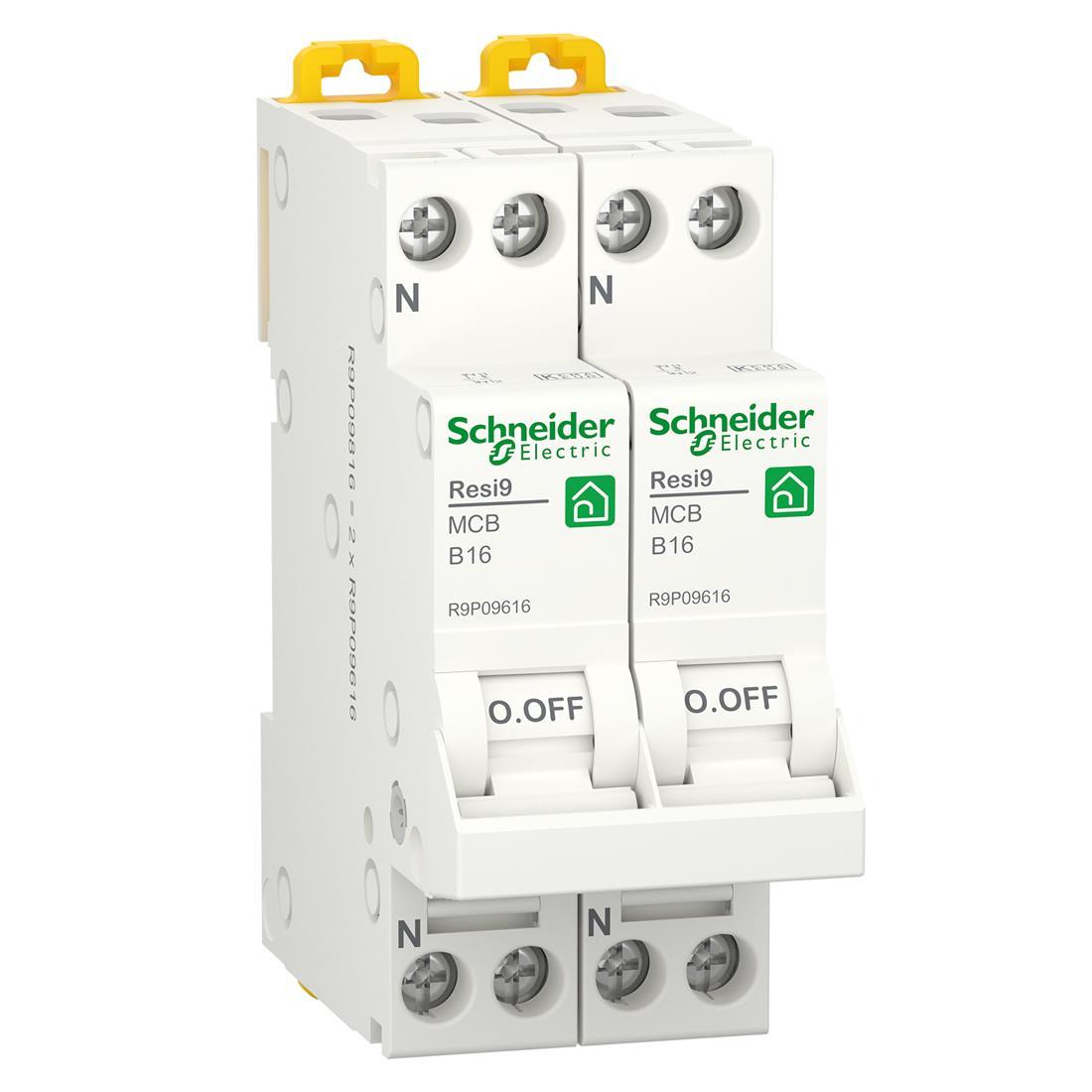 Schneider Electric fornuisgroep 2-polig+2 nul 16A B-kar (R9P09816)
