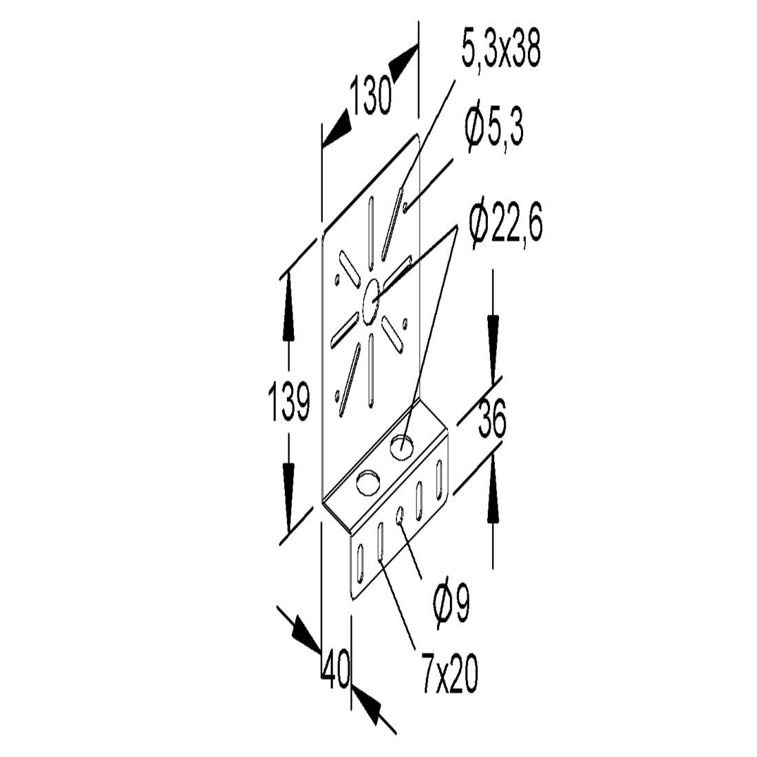 Niedax Kleinhuis montageplaat RMP130