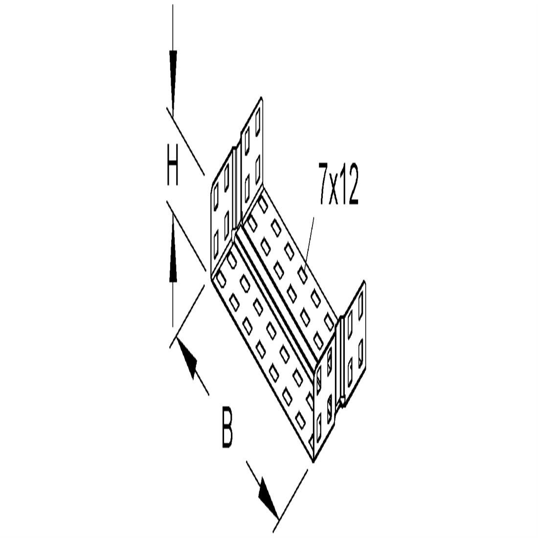 Niedax Kleinhuis kabelgoot koppelstuk voor 400 mm breed RV60.400
