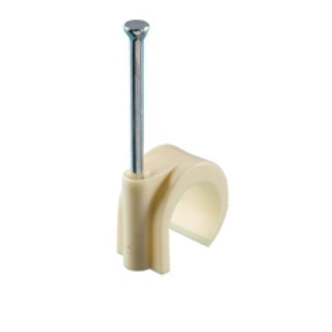 Spijkerclip 16-19mm crème kunststof per 100 stuks (HPCPVC16-19CRM)