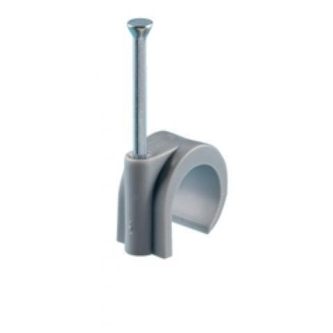 Spijkerclip 16-19mm grijs kunststof per 100 stuks (HPCPVC16-19GRY)