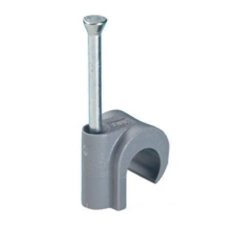 Spijkerclip 11-15mm grijs kunststof per 200 stuks (HPCPVC11-15GRY)