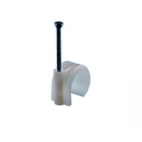 Spijkerclip 11-15mm wit kunststof per 100 stuks (HPCPVC11-15WHI)