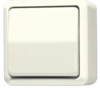 JUNG AP600 wisselschakelaar opbouw - creme wit (606A)
