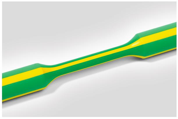 HellermannTyton krimpkous 3:1 dunwandig 3/1 mm 1 meter - groen/geel per 20 meter (319-00307)