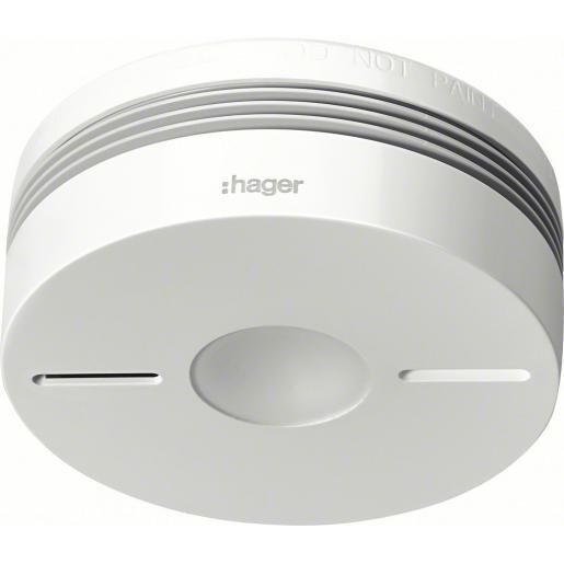 Hager optische rookmelder gevoed met lithium batterij 10 jaars draadloos koppelbaar (TG550A)