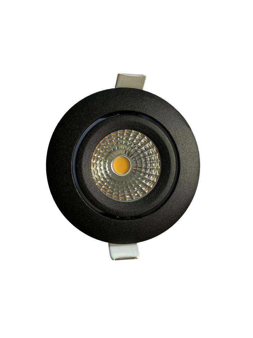 EM Electronics waterdichte inbouwspot dimbaar rond kantelbaar zwart - compleet met lamp en driver - IP54