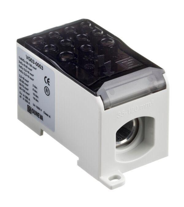 Ouneva aansluitblok 1-polig 280A 120mm² grijs (VG03-0003)