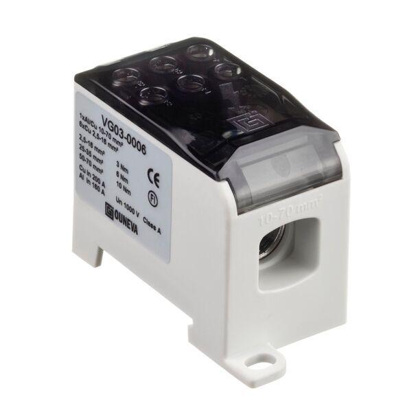 Ouneva aansluitblok 1-polig 200A 70mm² grijs (VG03-0006)