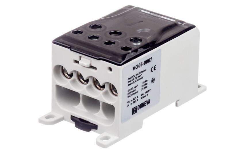 Ouneva aansluitblok 1-polig 400A 240mm² grijs (VG03-0007)