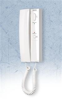 Videx Wandtoestel wit met el. beltoon, muteknop en ledindicatie