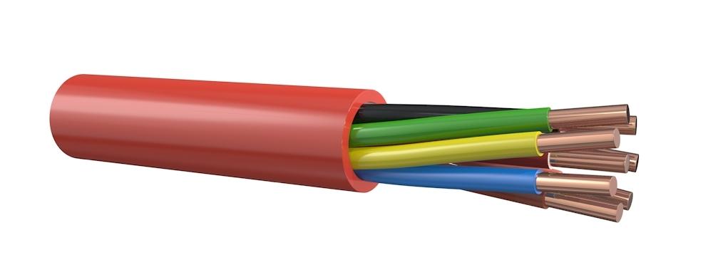 Brandmeldkabel 4x0,8 mm rood - per meter