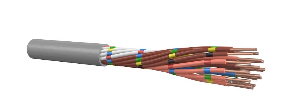 Signaalkabel 20x0,8 mm grijs - per meter