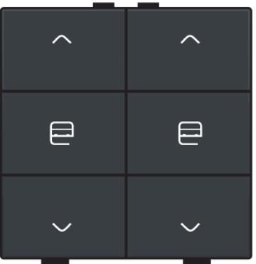 Niko motorbediening 2-voudig - Home Control antraciet (122-51036)