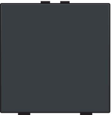 Niko bedieningstoets 1-voudig - Home Control antraciet (122-51001)