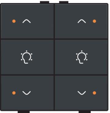 Niko dimbediening 2-voudig met LED-indicatie - Home Control antraciet (122-52046)