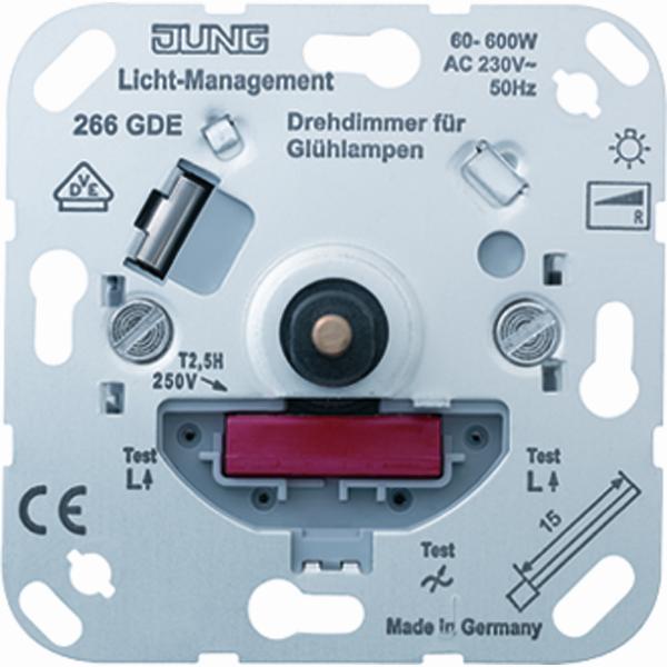 JUNG draaidimmer/drukknop 60 tot 600W basiselement (266GDE)