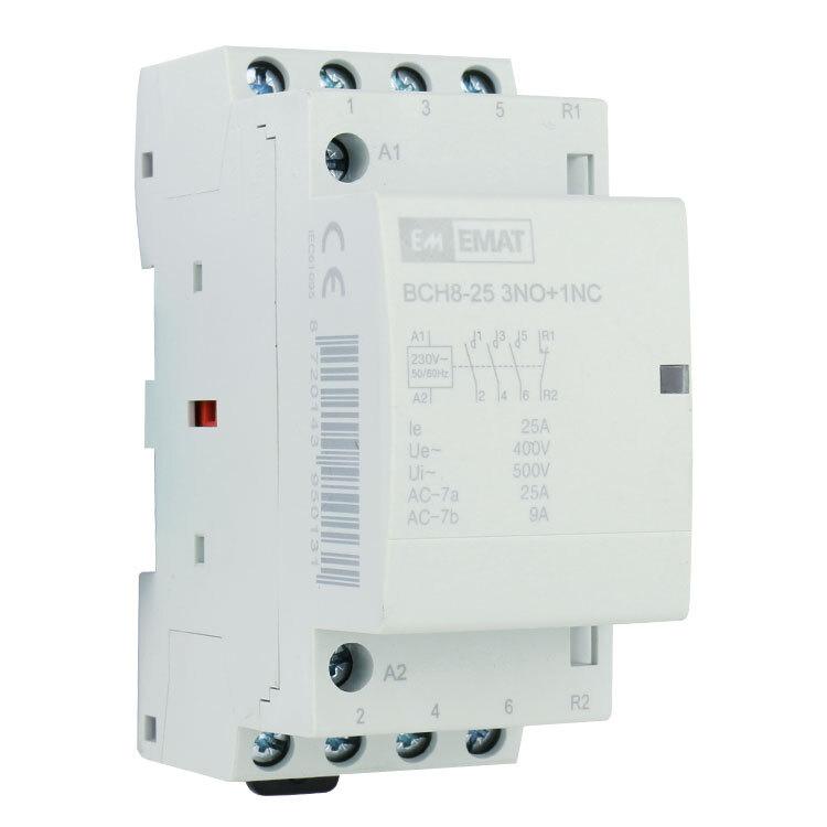 EMAT magneetschakelaar 230/400V 25A 3 maak en 1 verbreek