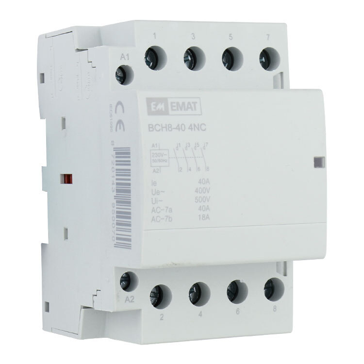 EMAT magneetschakelaar 230/400V 40A 0 maak en 4 verbreek