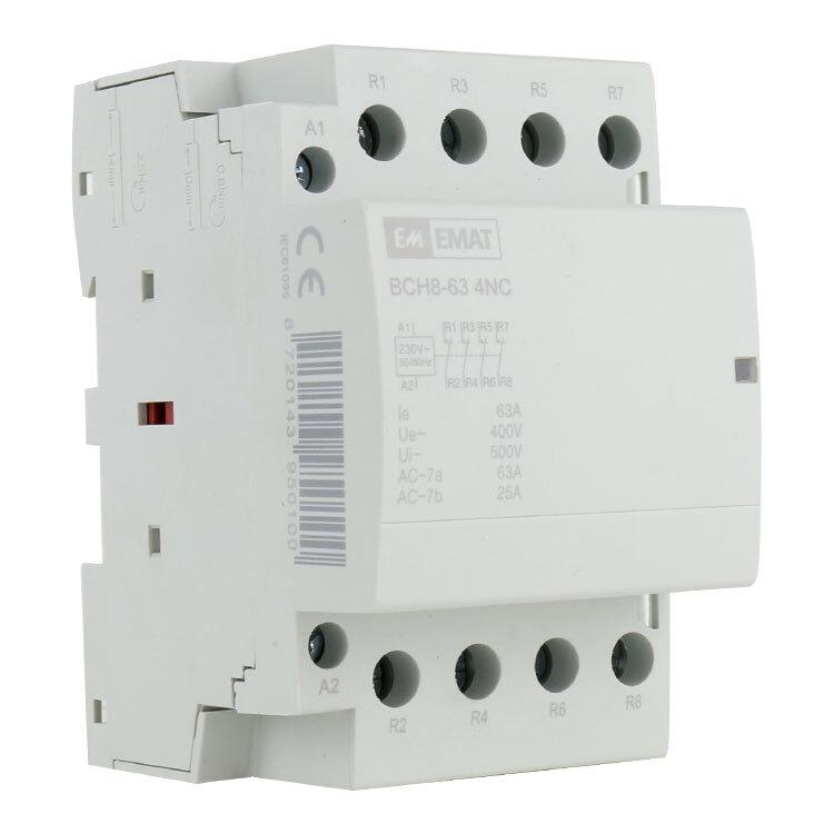 EMAT magneetschakelaar 230/400V 63A 0 maak en 4 verbreek