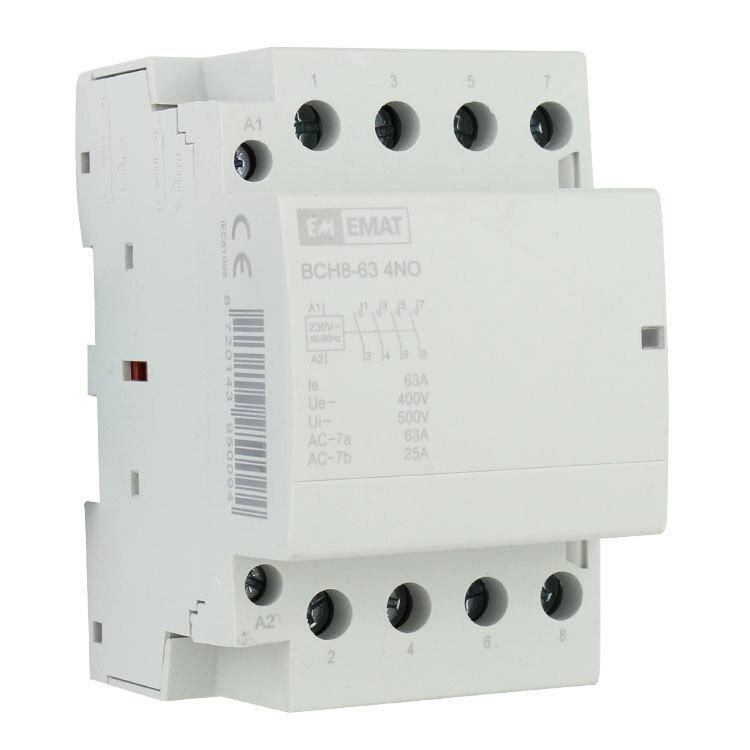 EMAT magneetschakelaar 230/400V 63A 4 maak en 0 verbreek