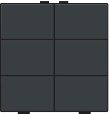 Niko bedieningstoets 6-voudig - Home Control antraciet (122-51006)