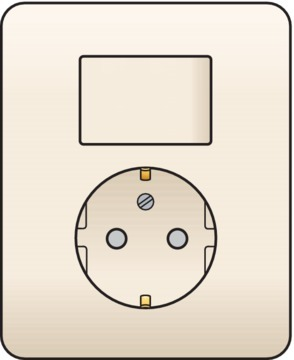 Niko Original - Combinatie schakelaar-wandcontactdoos crème 100-62816