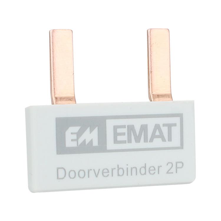 EMAT doorverbinder 2-voudig grijs
