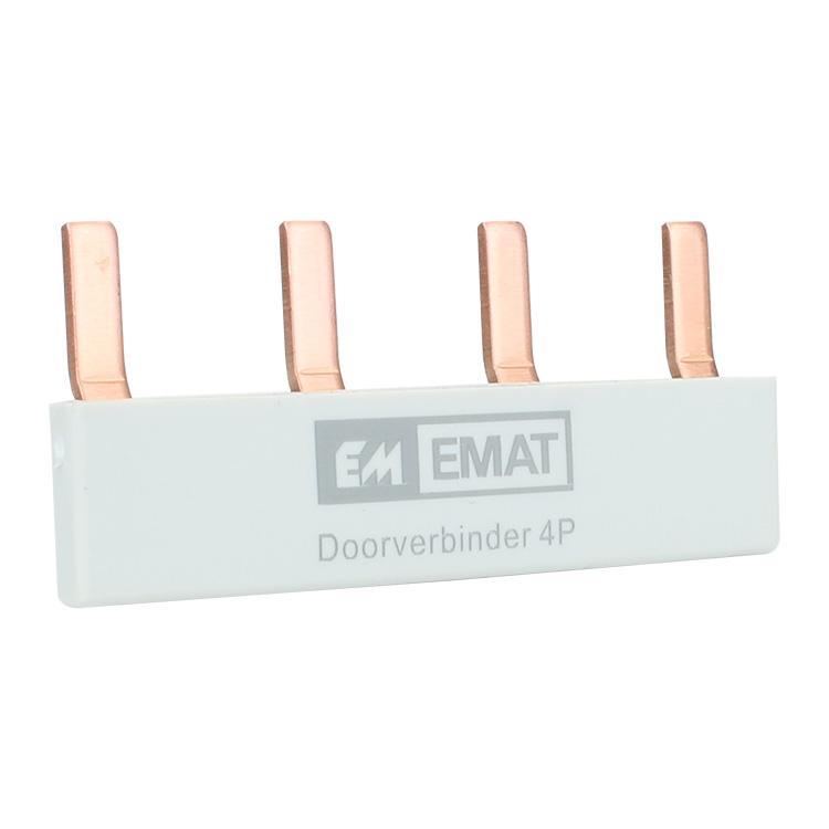 EMAT doorverbinder 4-voudig grijs