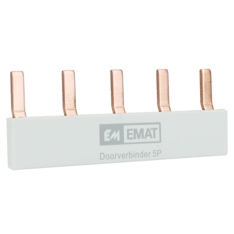 EMAT doorverbinder 5-voudig grijs