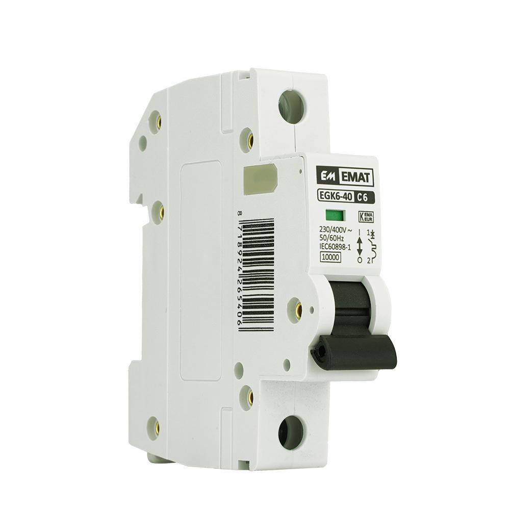 EMAT installatieautomaat 1-polig 6A C-kar