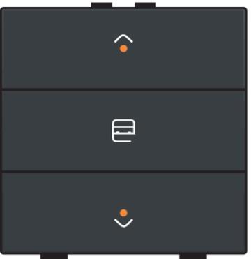 Niko motorbediening 1-voudig met LED-indicatie - Home Control antraciet (122-52033)