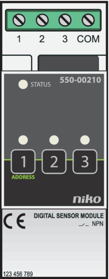 Niko Home Control - Sensormodule 3 ingangen 550-00210