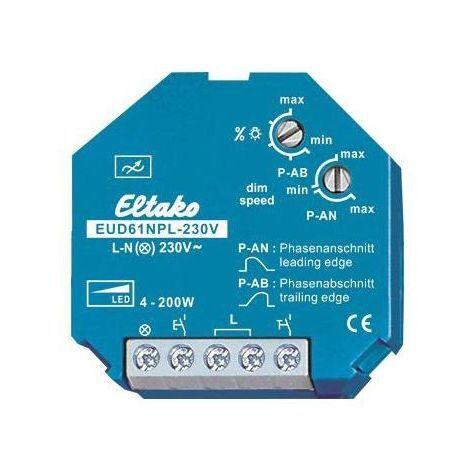 Eltako EUD61 - Dimmer Drukknop LED universeel 200W 61100832