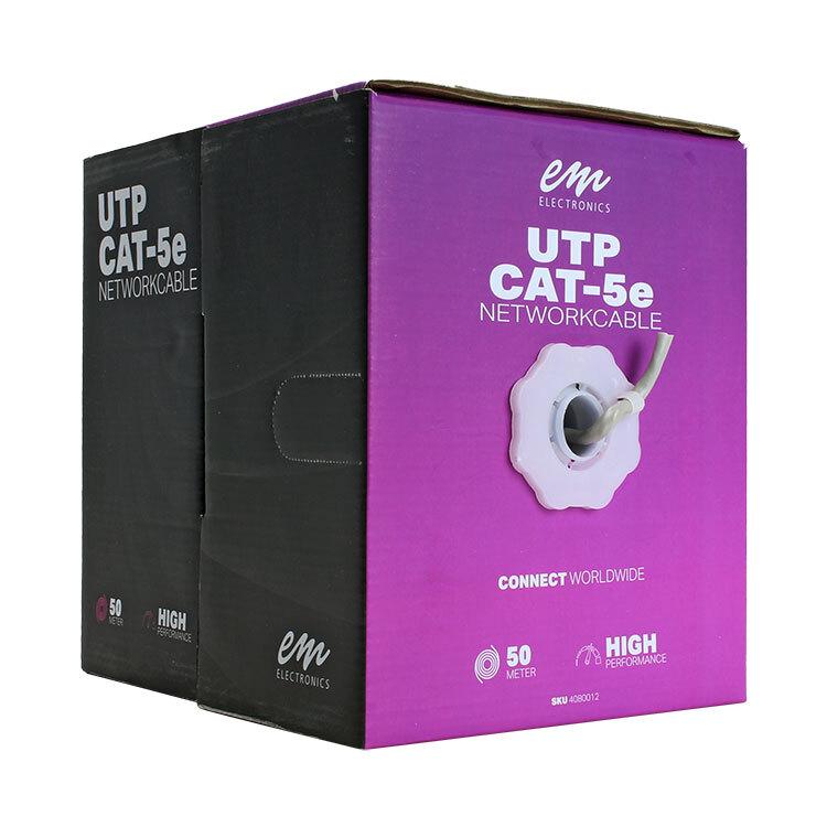 UTP CAT5e kabel - grijs rol van 50 meter