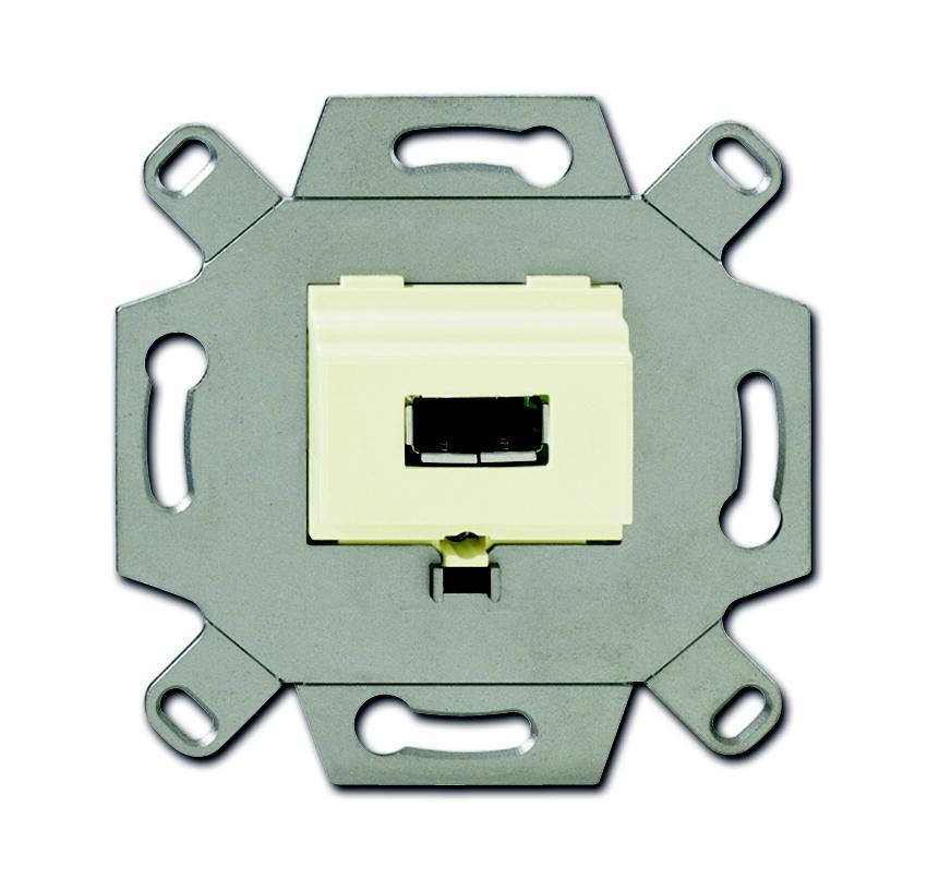 Busch-Jaeger aansluitdoos USB inbouw - crème (0261/11)
