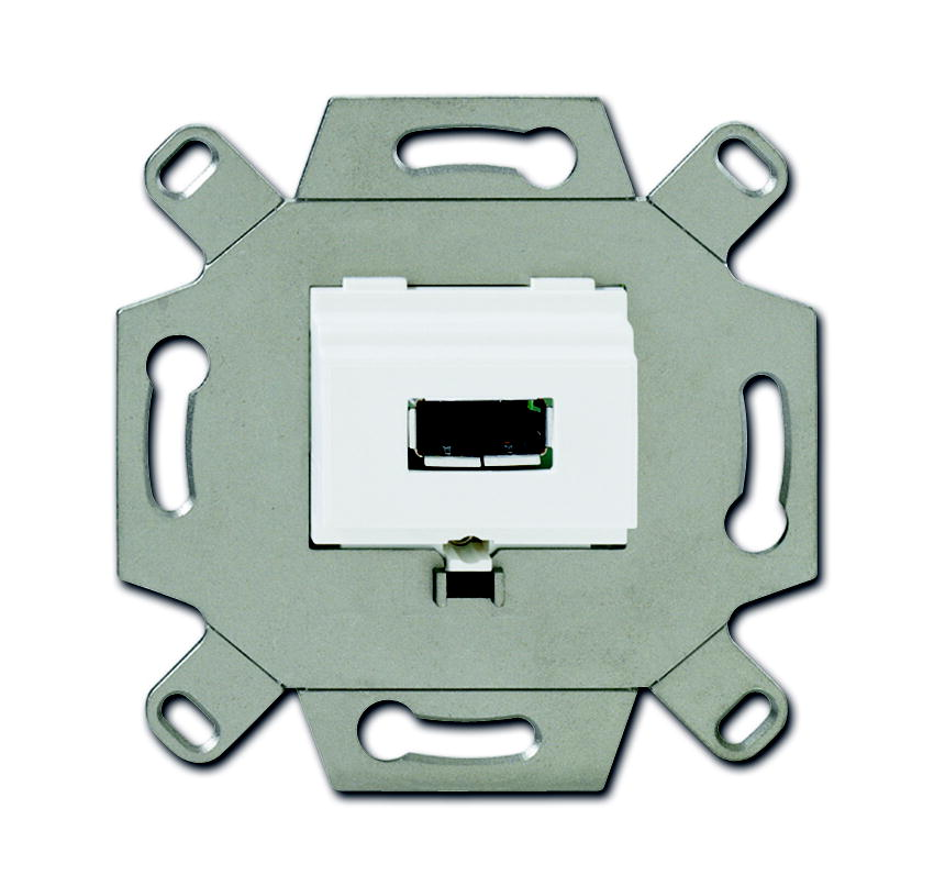 Busch-Jaeger aansluitdoos USB inbouw - alpin wit (0261/12)