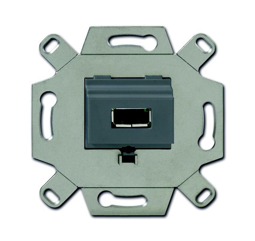 Busch-Jaeger aansluitdoos USB inbouw - grijs (0261/13)