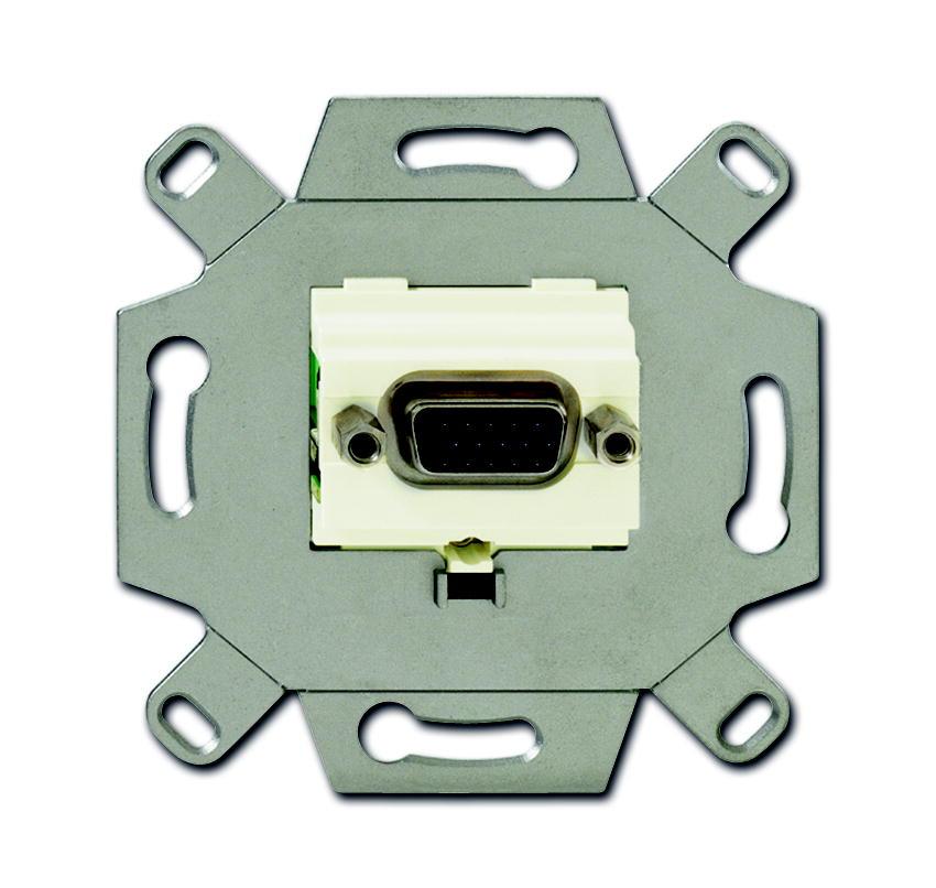 Busch-Jaeger aansluitdoos VGA inbouw - crème (0261/21)
