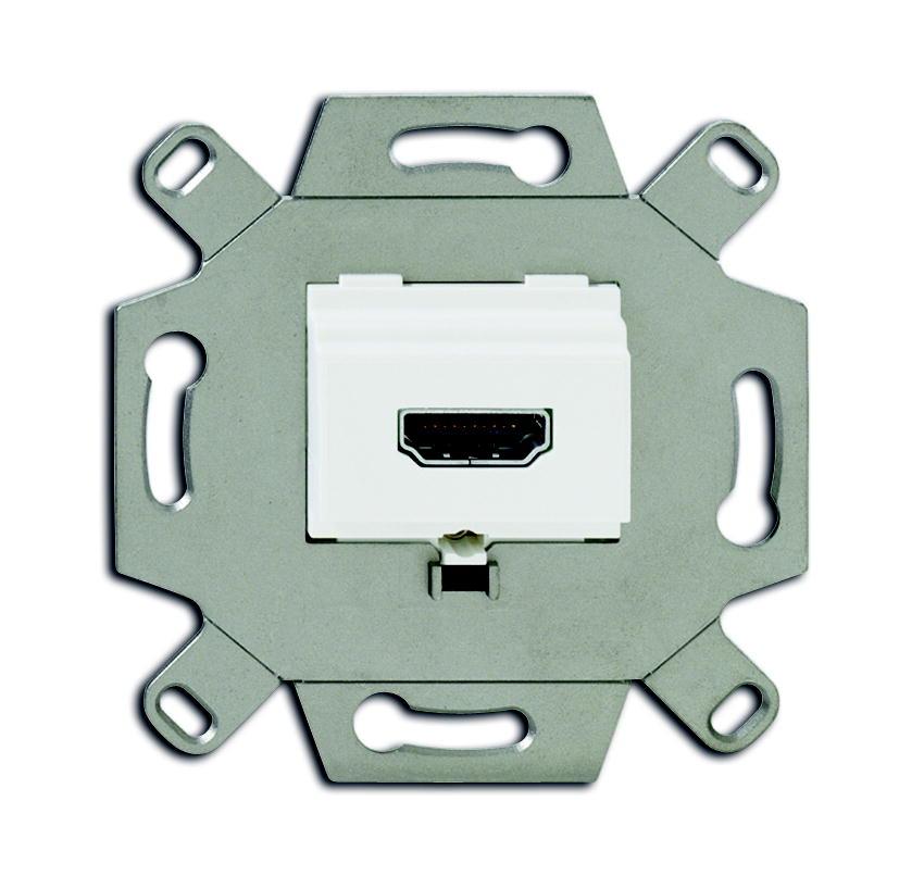 Busch-Jaeger aansluitdoos HDMI inbouw - alpin wit (0261/32)