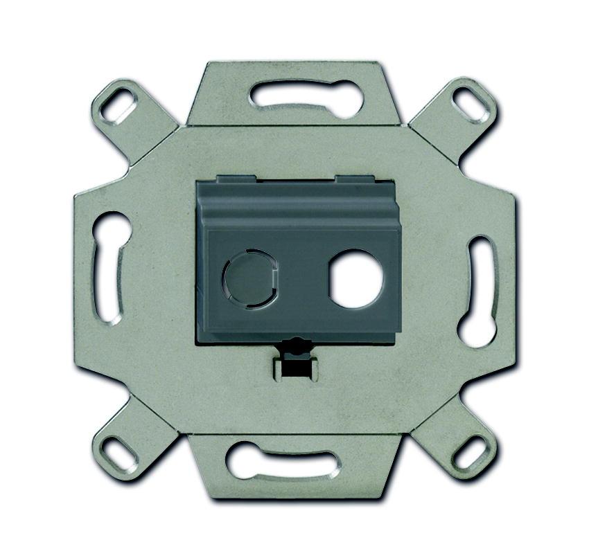 Busch-Jaeger draagring inbouw voor 2x F-connector koppelbussen - grijs (0262/13)