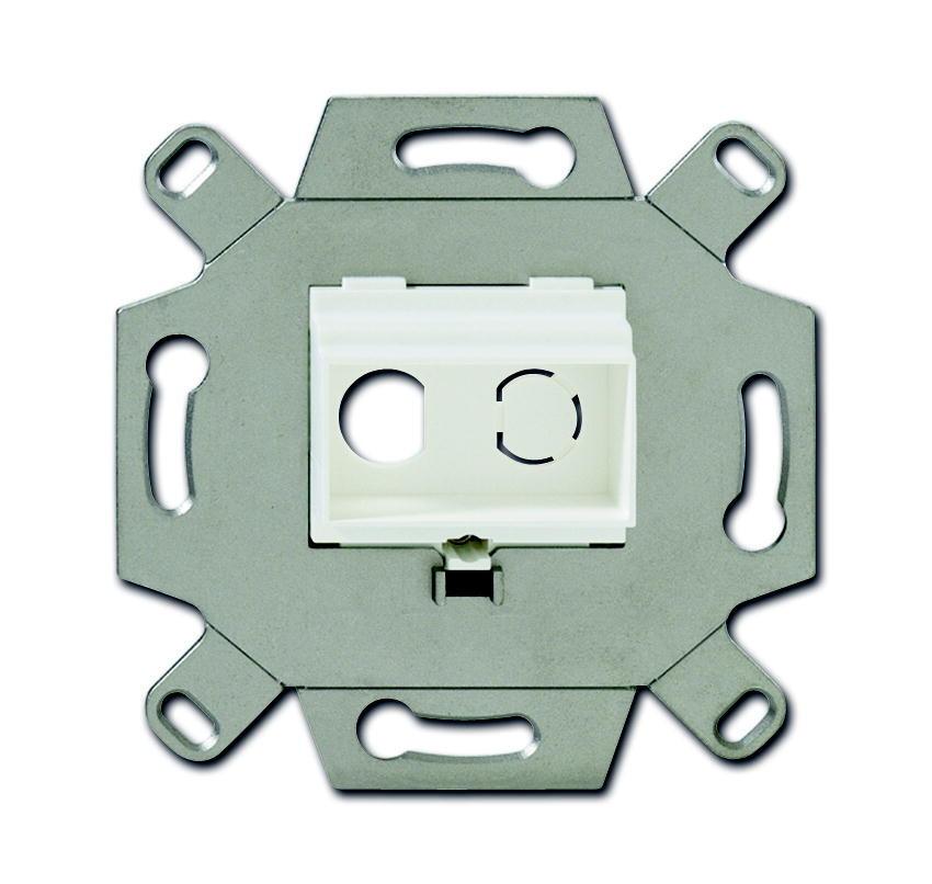 ABB Busch-Jaeger draagring inbouw voor 2x cinch - alpin wit (0263/12)