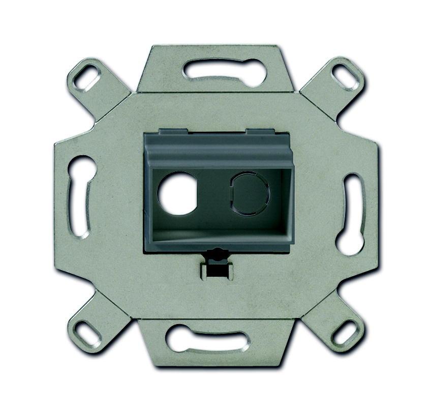 ABB Busch-Jaeger draagring inbouw voor 2x cinch - grijs (0263/13)