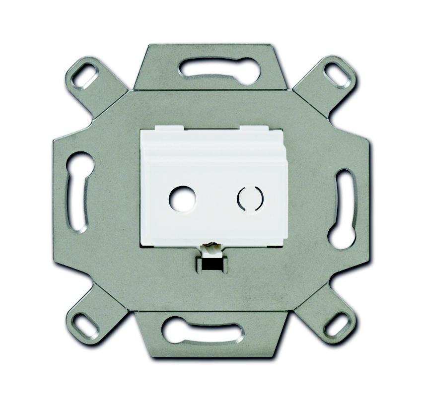 ABB Busch-Jaeger draagring inbouw voor 2x minijack - alpin wit (0264/12)