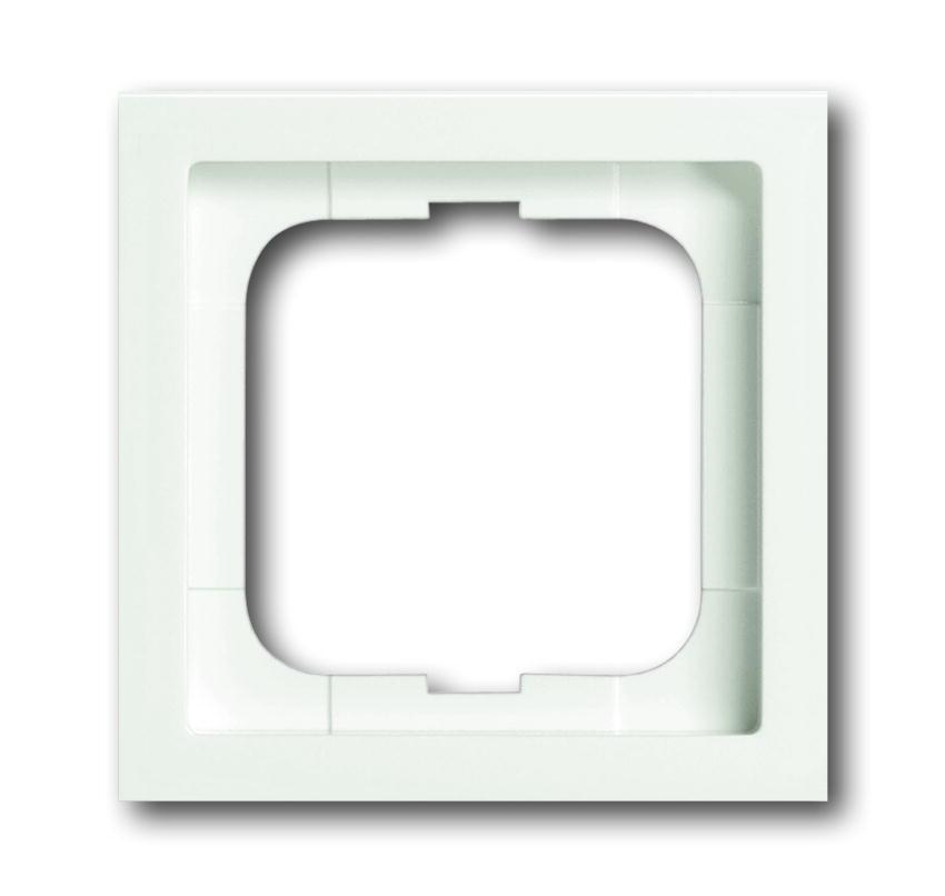 ABB Busch-Jaeger afdekraam hoekig 1-voudig - future linear studiowit mat (1721-884K)