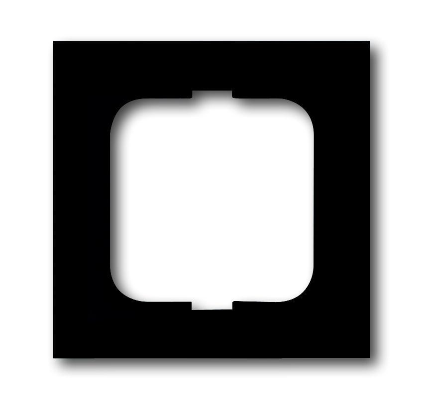 ABB Busch-Jaeger afdekraam hoekig 1-voudig - future linear zwart mat (1721-885K)